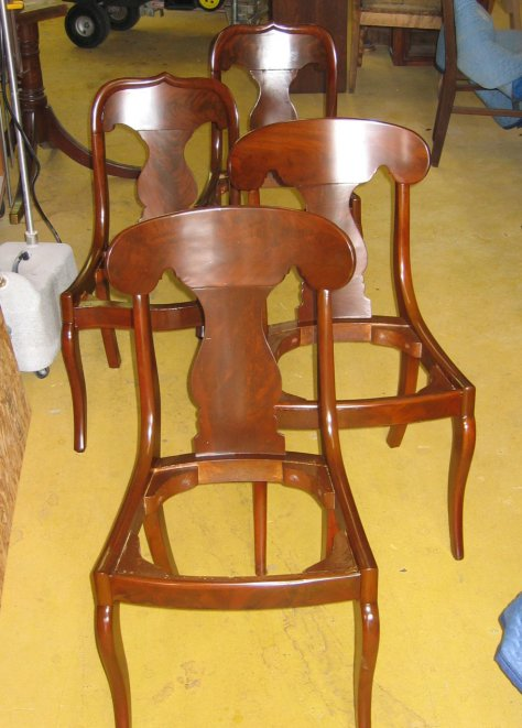Leather Office Chair Leg Broken Off 88 Four Side Chairs Apart Make Parts And Refinish 225 Ea