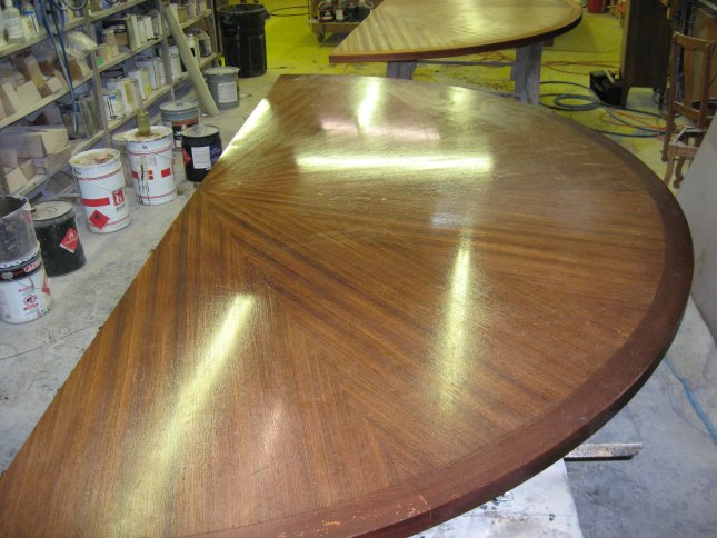 Conference Table Refinishing - Round conference table for 12